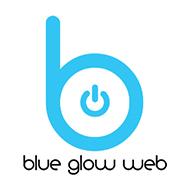 Blue Glow Web Logo